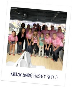 Girls at the bowling prospect party