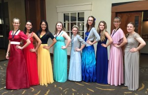 Fredericksburg Girls show off their Rainbow colors!
